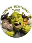 7.5 Personalised Shrek & Friends Icing or Wafer Cake Top Topper
